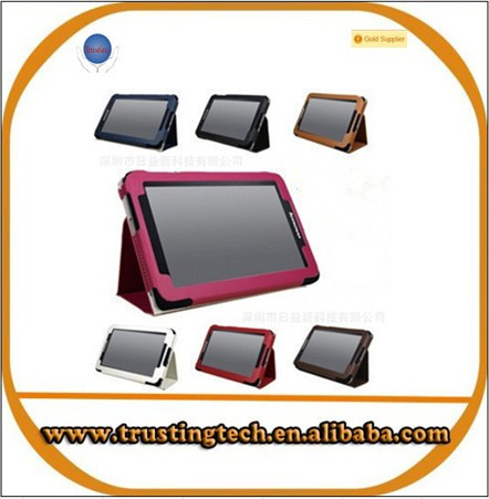 wholesaling leather case for LenovoA107 lepad 7inch tablet pc