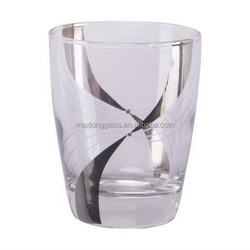 Arabic Style Drinking Glass with Silver Strip