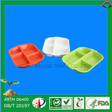 PLA 100% Biodegradable Plastic Serving Trays