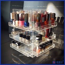 Popular Acrylic material 3 tiers acrylic nail polish displays rack stand