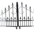 Design beautiful residential iron main garden fence and gates