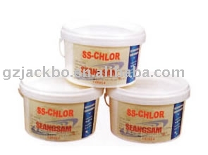 Chlorine sanitizing Tablet for swimming pool cleaning