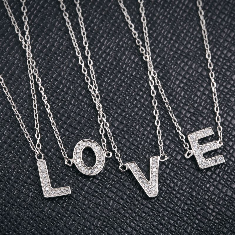Tryme Jewelry sterling silver 26 alphabet from <strong>A</strong> to Z personalize letter pendant necklace