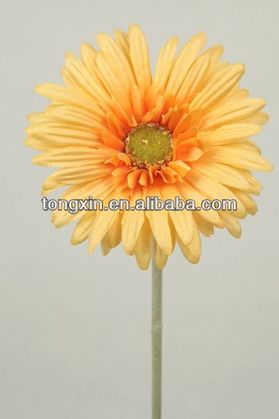 yellow decoration artificial flower gerbera (27021F)