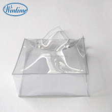 Standup transparent PVC shopping bag for underwear