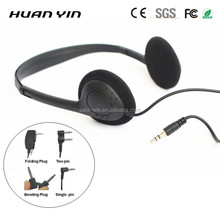 Low cost classroom headphones lightweight portable headphones 100 pack Library headsets