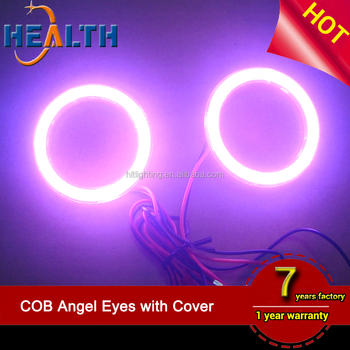 Universal Fit 6000K COB LED 100mm Angel Eye Halo Ring With Cover