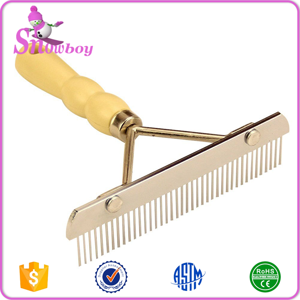 Wooden Handle Pet Grooming Comb Large Dogs Hair Brush