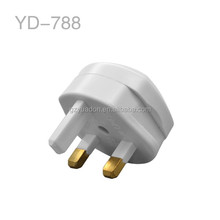 Alibaba express UK plug adapter, 3 pin copper US Germany France to UK adapter plug