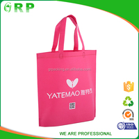 Top quality personalized pink non woven shopping grocery bag for girl