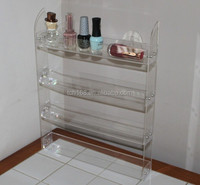 acrylic wall mounted nail polish display stand,fashion made front counter display stands