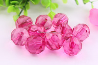 Factory direct Sell !! Large Plastic Acrylic faceted crystal bead ,wholesale transparent beads for little girl Necklace Jewlery