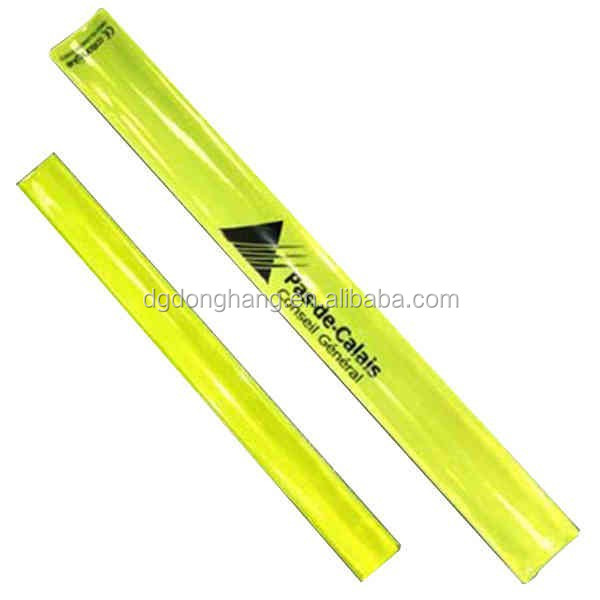 PVC Printedable Reflecitve Slap Wristband