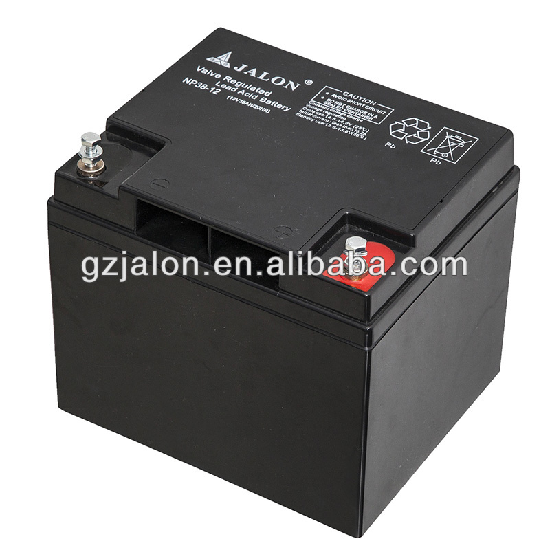 rechargeable sealed lead acid battery 12v 38ah agm battery
