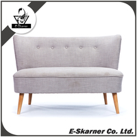 E-Skarner grey two seat fabric home furniture living room sofa