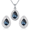 New style drop necklace and earrings set swarovski element crystal jewelry set