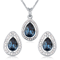 New style drop necklace and earrings set Made With Swarovski Element crystal jewelry set