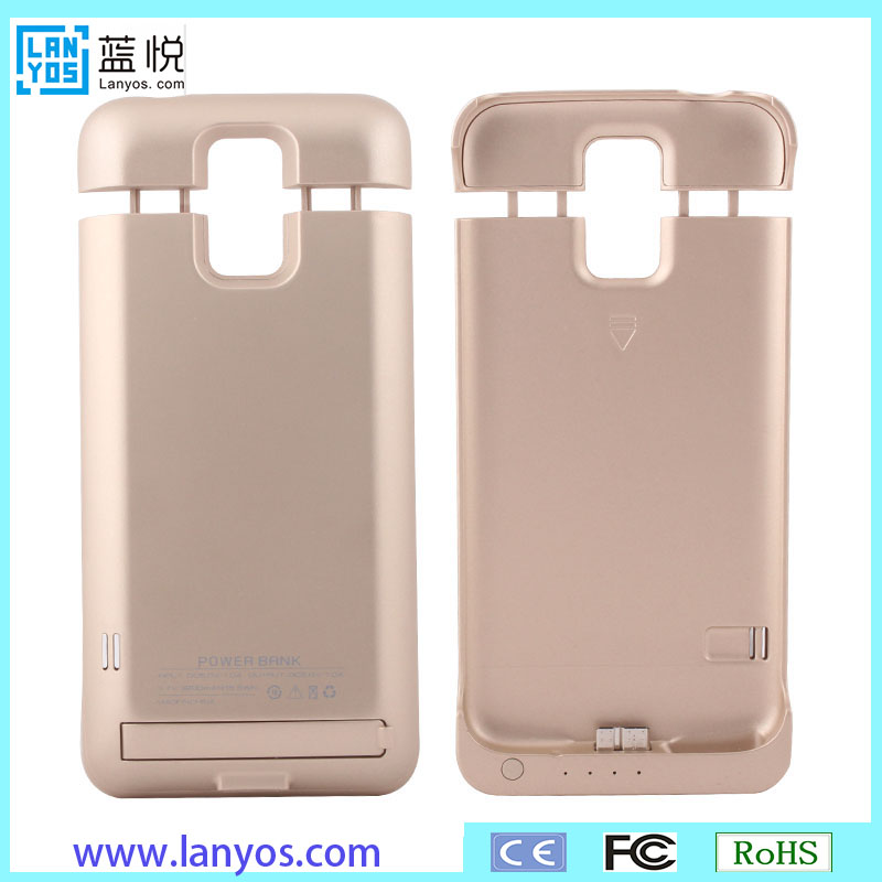new type 3200mah battery case high quality power case for samsung galaxy s5