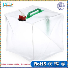 20L PVC Outdoor Foldable Folding Collapsible Transparent Drinking Water Bag Car Water Carrier Container
