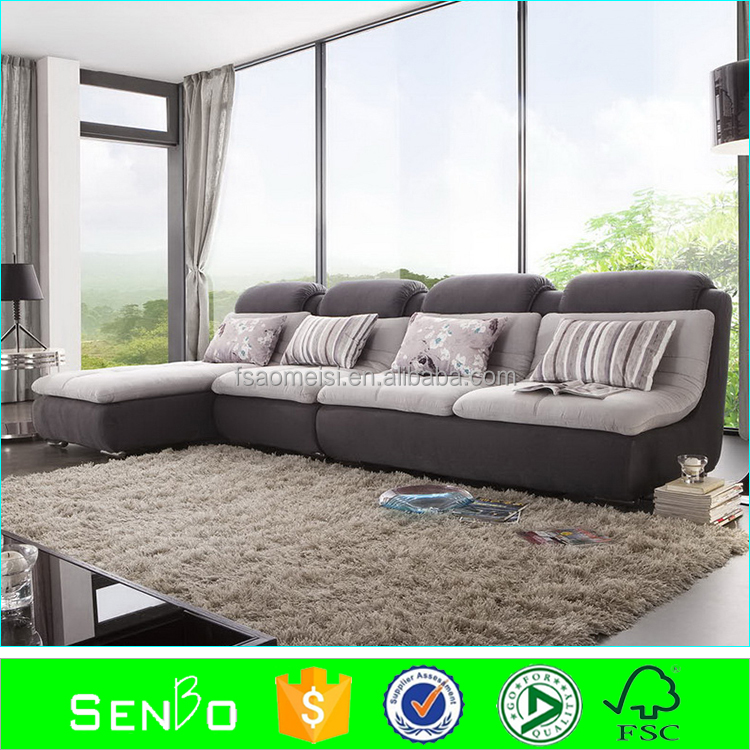 2015latest modern luxury sofa / waterproof sofa fabric / wooden sofa cum bed designs / furniture set luxury living room