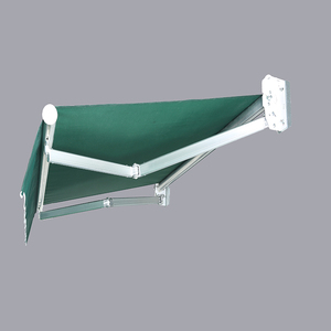 Aluminum retractable folding arm awning