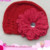 Factory Price Baby Beanie Crochet Knitted Pattern Lovely Flower Hats For Kids