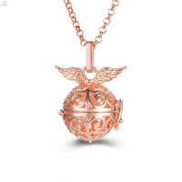 Locket Angel Caller Ball Pendant Necklace, Cage Bola Angel Caller Ball Necklace