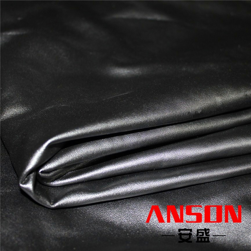 4-way stretchable spandex velour pu synthetic leather for clothes
