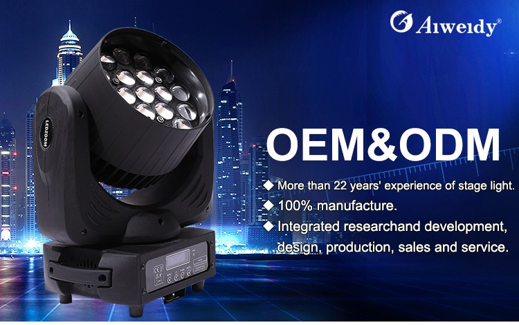 2019 new arrivals Big Bee eyes zoom beam wash moving head 19*15W RGBW 4in1 led in good quality for DMX stage light