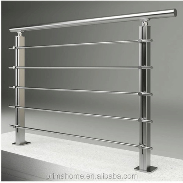China factory price interior / exterior stainless steel pipe solid rod stair handrail with modern design