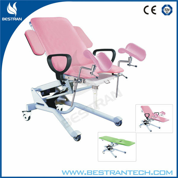 China BT-GC006 hospital electric surgical gynecology examination chair/ obstetric chair with armrest/filth basin