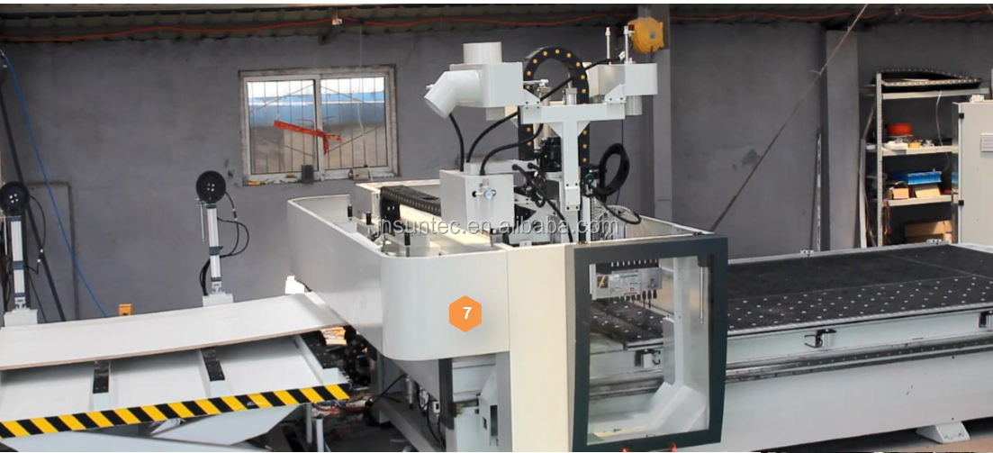 automatic loading unloading cnc nesting cnc woodworking cnc machine 9kw italy  spindle ATC   drilling  5+4  ST2040