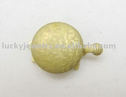 Fashion Gold 1 Hole Brass Alloy Box Clasps/Hooks Jewelry Findings Accessories