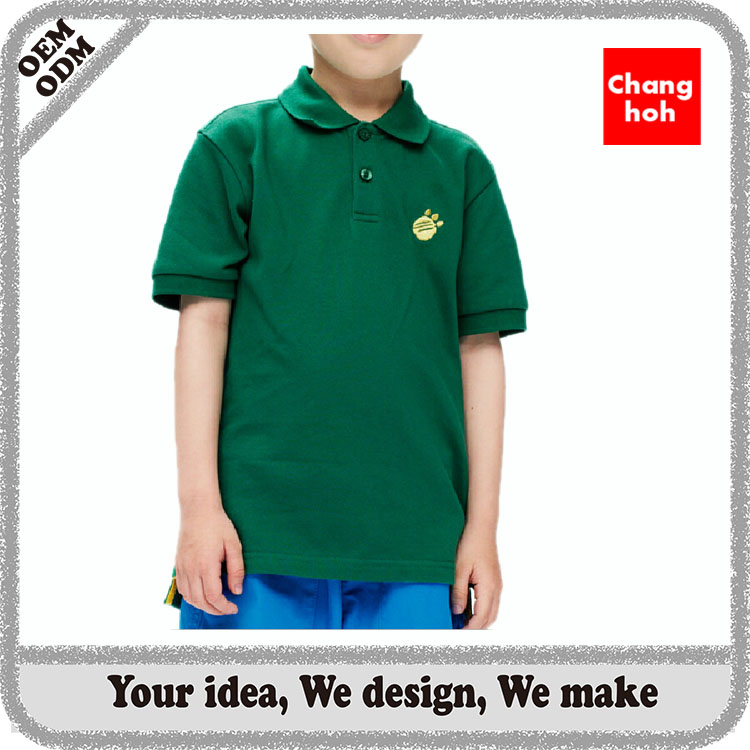 good quality children polo t shirts with custom logo