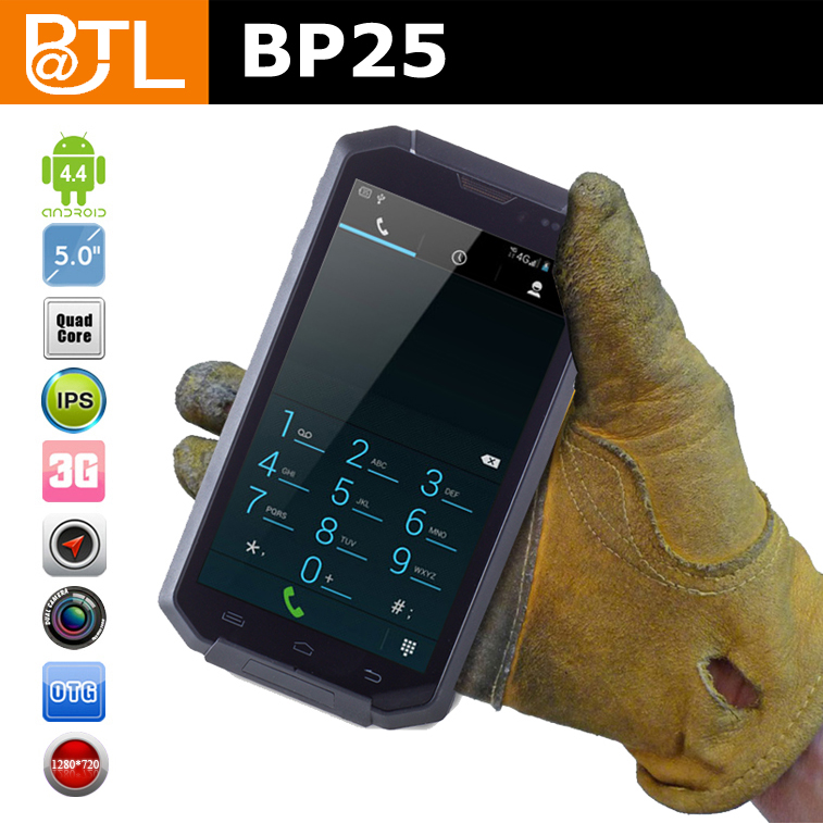 passed CE test 5inch high senstive screen YL0593 BATL BP25 NO brand GPS cell phone waterproof