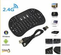 Mini Wireless Multimedia Keyboard 2.4G with Touchpad Handheld Keyboard for PC Android TV