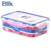 clear rectangular plastic container and lid,airtight,watertight,wholesale,bpa free pp