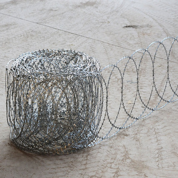 Flat Stainless Steel razor edge barbed wire