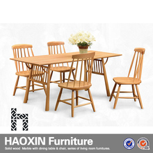 2015 European style dining table sets wood, 8 seater dining room furniture