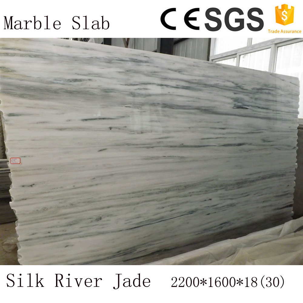 Silk River Jade man-made carrara white marble slab from China famous supplier