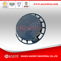 Heavy Duty EN124 D400 Ductile Cast Iron Round Manhole Cover
