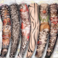 Nylon Fake Tattoo Sleeves Cool Arms