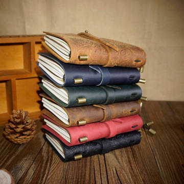 Custom Printing leather note bound diary book notebook