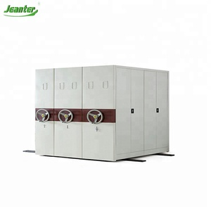 GuangZhou Office File Shelves Steel Furniture Mechanical File Compactor Manual Mobile Compactor