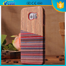 Wholesale high quality wooden phone Case,cell phone housing cover for Samsung S6 edge