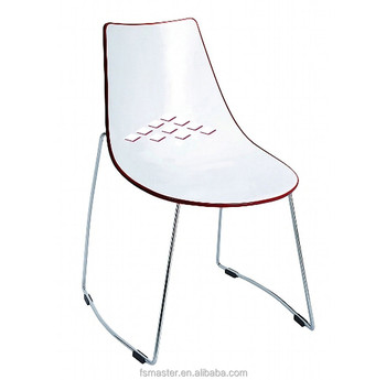 Wholesale grace leisure ABS seat with chromed metal frame Dining Chair