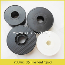 Cheap Black plastic empty wire spool for abs pla extruder line 200mm empty plastic spool