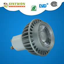 Factory Supply CE ROHS 6W Black Silver Housing GU10 Led Dimmable