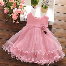 F40354A Fall boutique girl clothing fashion sleeveless baby frock designs