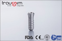 Hot Trausim Titanium Dental Implant in China 100% compatible with straumann and Israel Implants